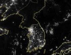 La Corea del Nord dallo spazio è un buco nero