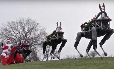 Google augura buon Natale con le renne robot