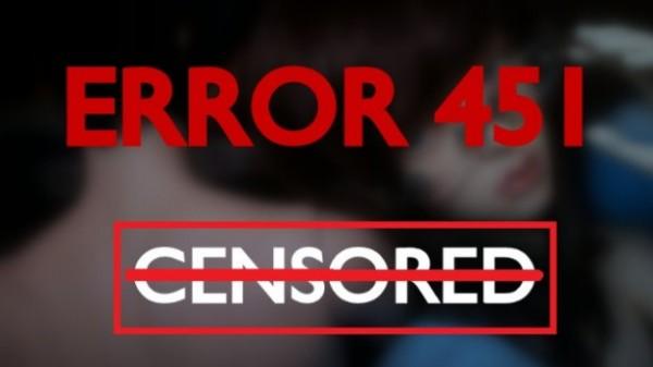 Error 451, il numero di errore della censura
