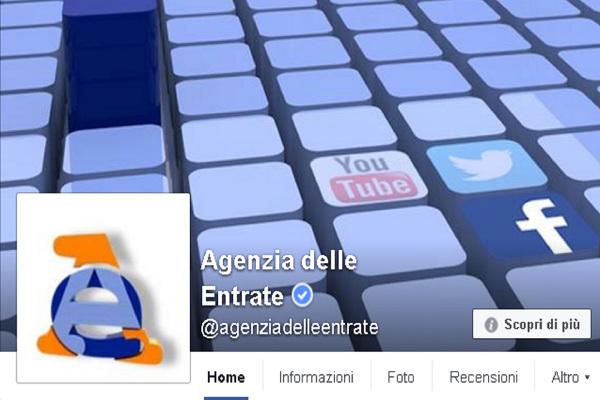 L'Agenzia delle Entrate su Facebook per fornire informazioni via chat