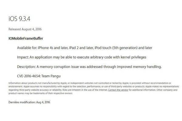 Apple rilascia iOS 9.3.4 e blocca il Jailbreak