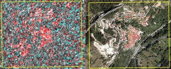 """Cosmo Skymed, dallo spazio i """"colori"""" del terremoto"""