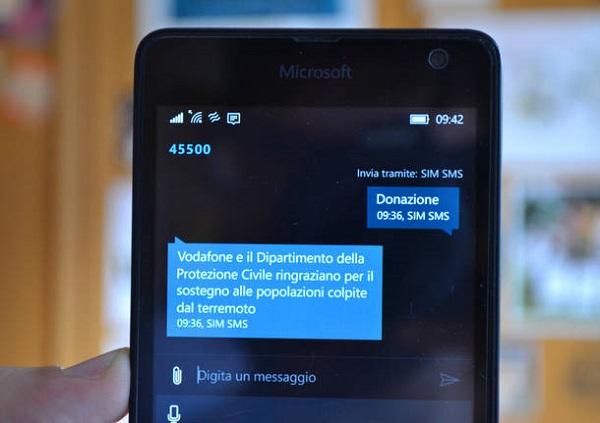 Terremoto Centro Italia, milioni di sms solidali